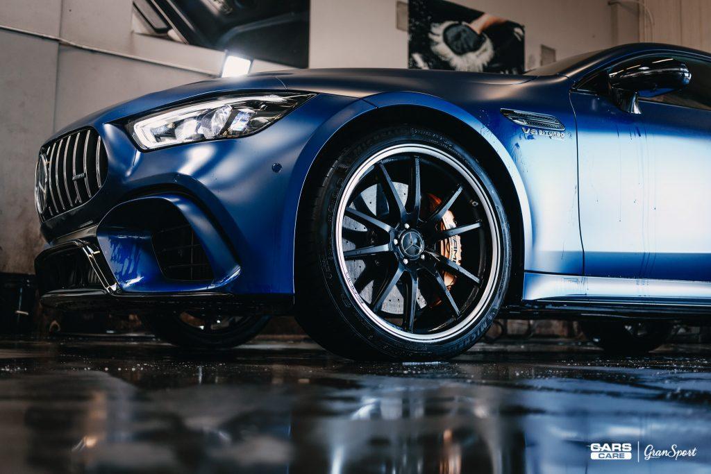 Mercedes-AMG GT 63 S - Zabezpieczenie auta bezbarwną folią ochronną - carscare.pl