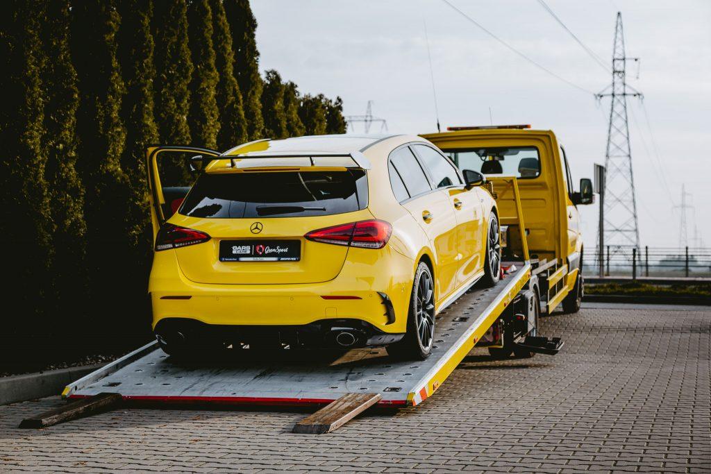 Mercedes-AMG A 35 - Zabezpieczenie auta bezbarwną folią ochronną - carscare.pl