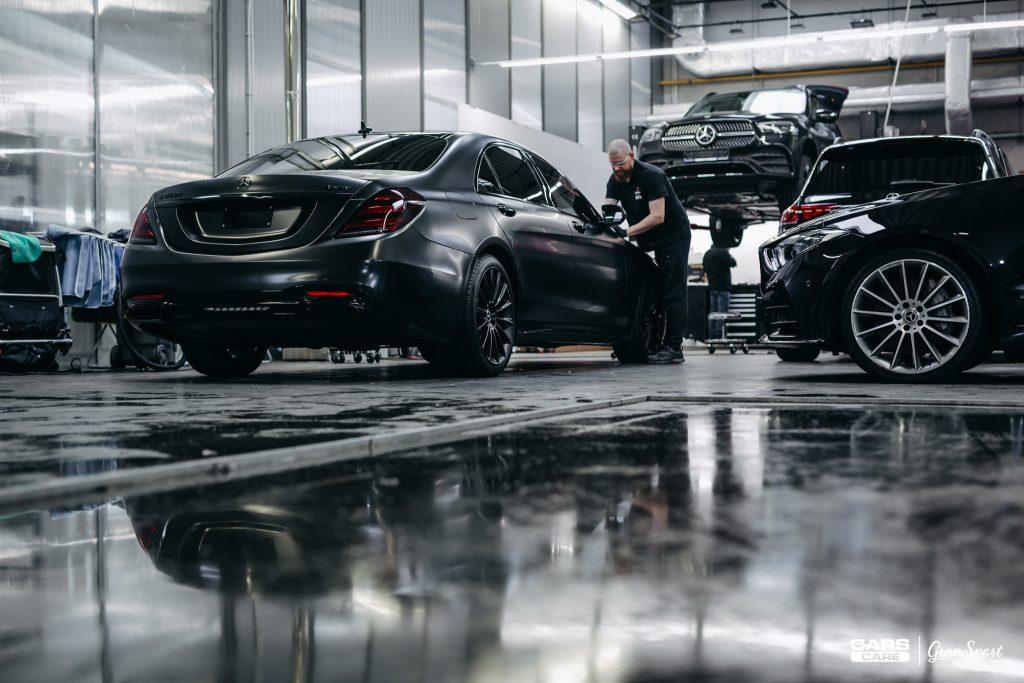 Mercedes-Benz S 400d - Zabezpieczenie auta bezbarwną folią ochronną - carscare.pl