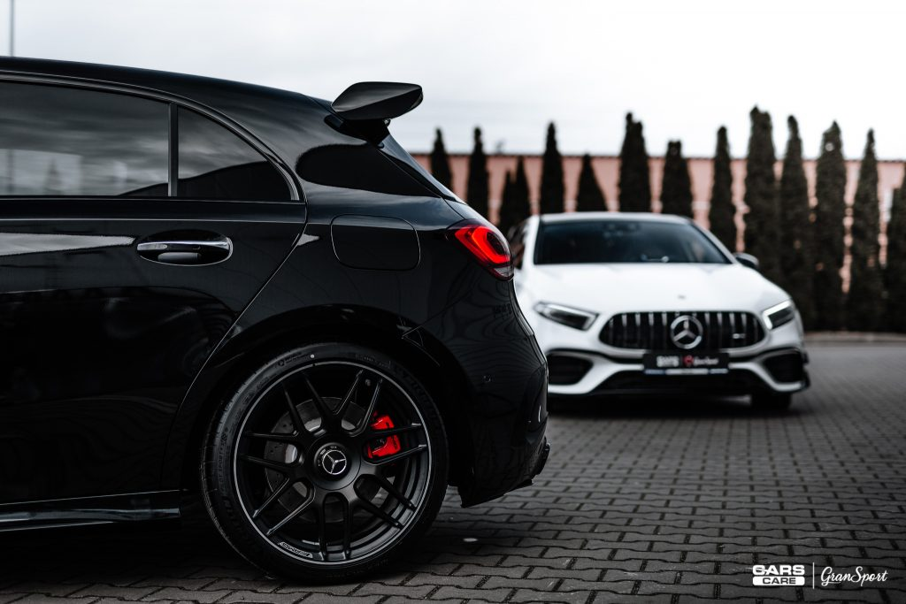 Mercedes-AMG A 45 S - Zabezpieczenie auta bezbarwną folią ochronną - carscare.pl