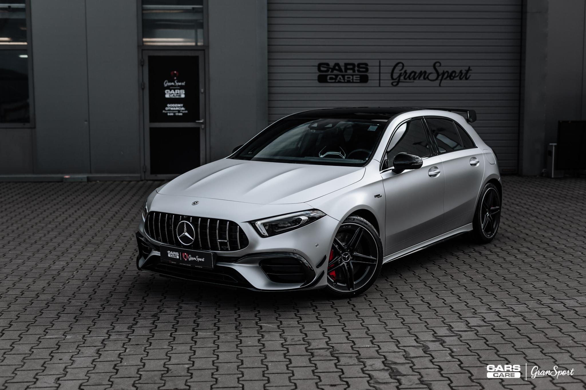 Mercedes-AMG A45 S - Zmiana koloru auta folią - carscare.pl