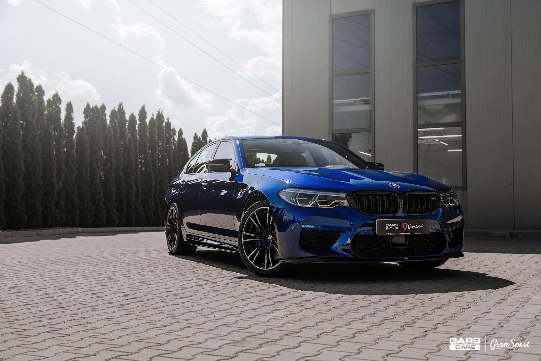 BMW M5 F90 - Zabezpieczenie auta bezbarwną folią ochronną - carscare.pl