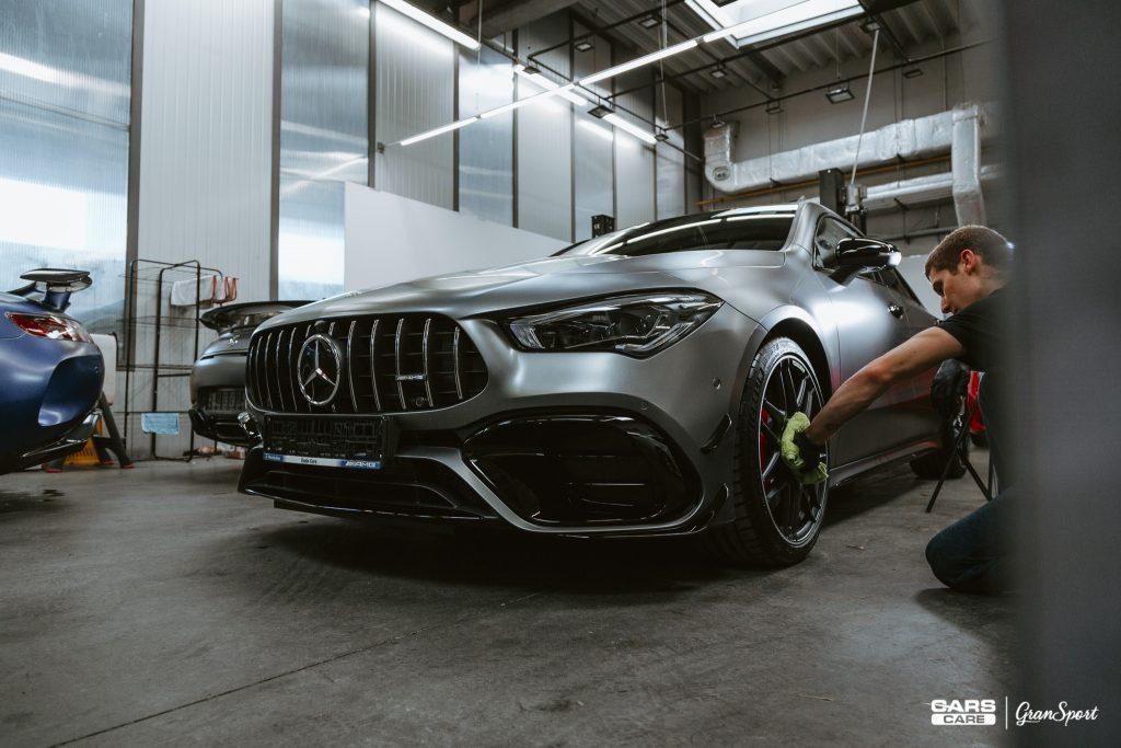 Mercedes-AMG CLA 45 S - Zmiana koloru auta folią - carscare.pl