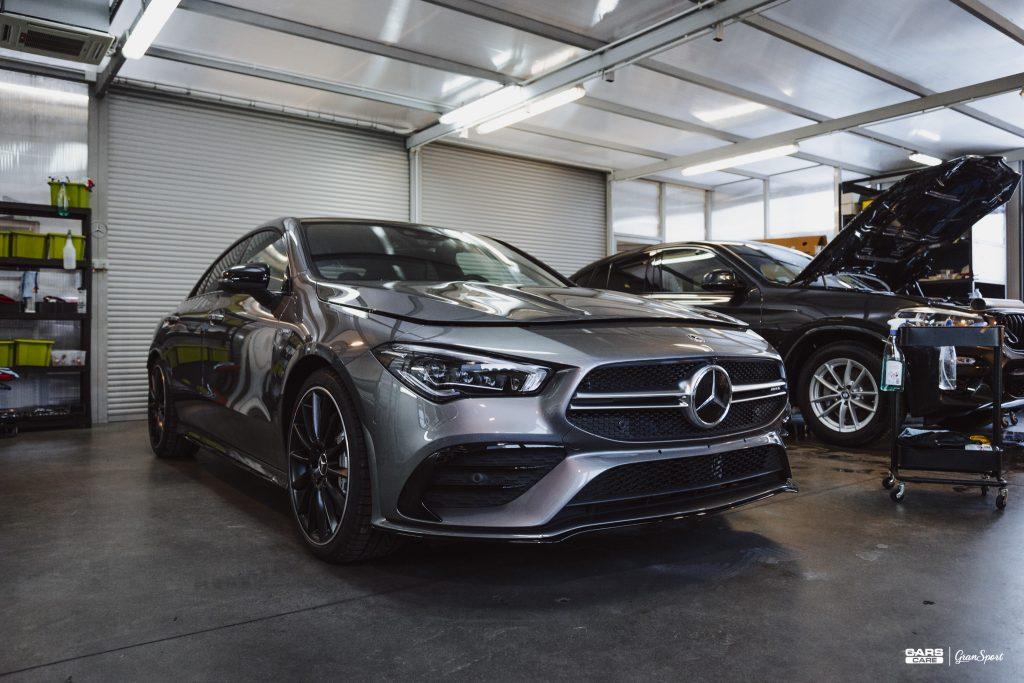 Mercedes AMG CLA 35 - Zabezpieczenie auta bezbarwną folią ochronną - carscare.pl