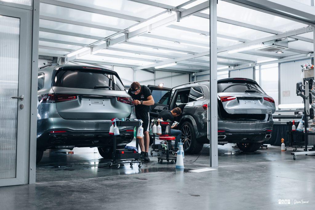 Mercedes-Benz GLS - Zabezpieczenie auta bezbarwną folią ochronną - carscare.pl