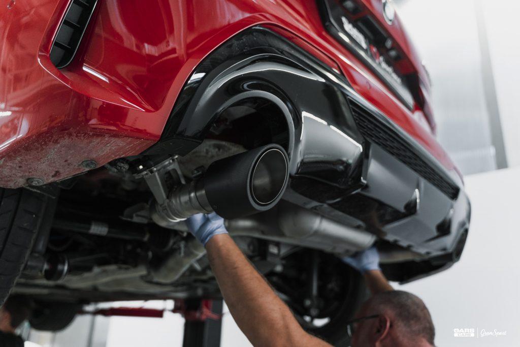 BMW M135i - Zabezpieczenie auta bezbarwną folią ochronną - carscare.pl