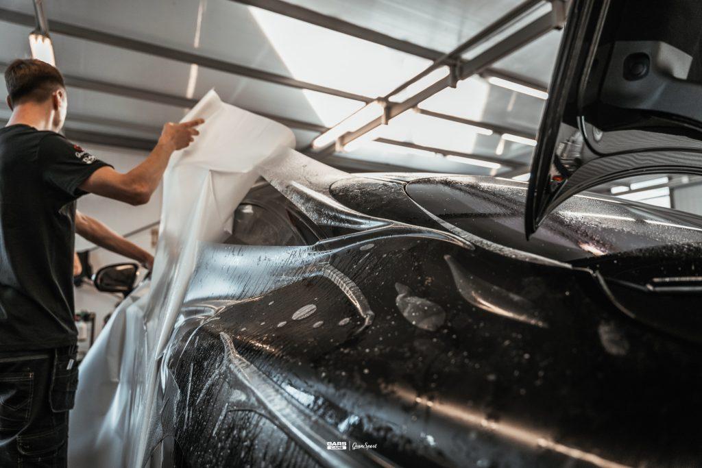Mercedes-Benz S Coupe Mansory - Zabezpieczenie auta bezbarwną folią ochronną - carscare.pl