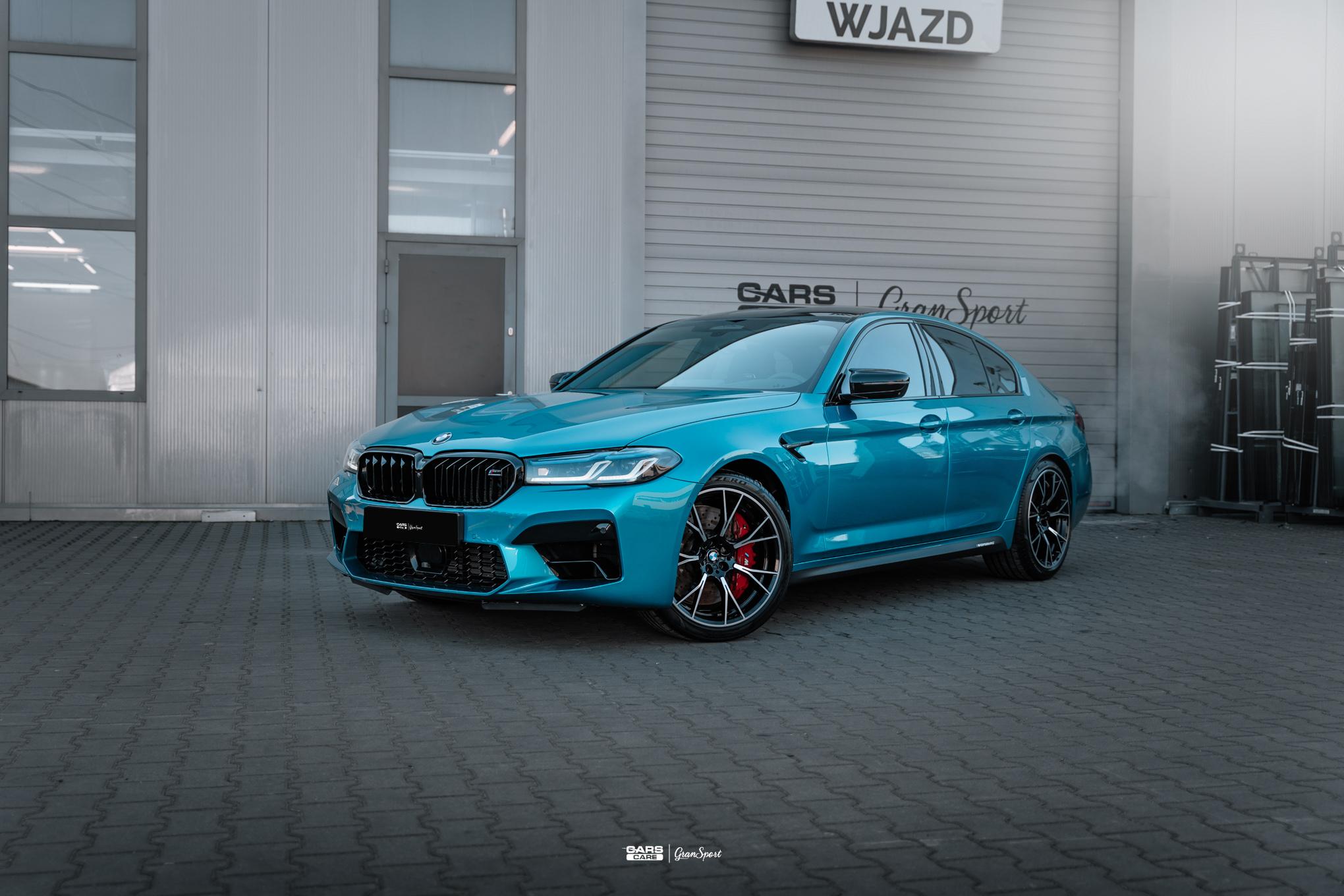 BMW M5 Competition - Zabezpieczenie auta bezbarwną folią ochronną - carscare.pl