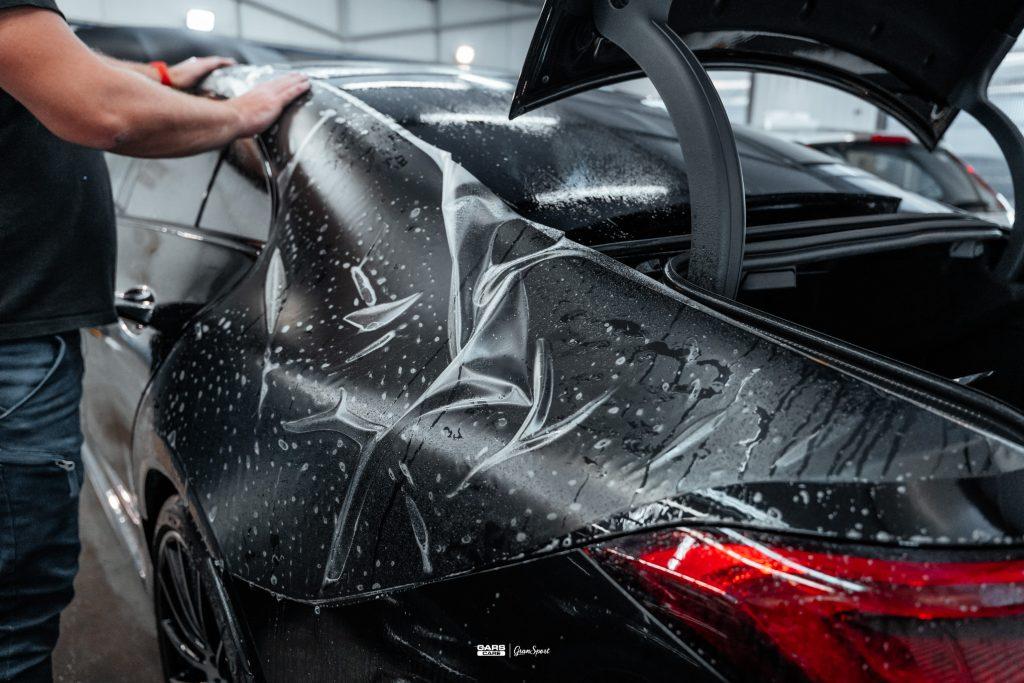 Mercedes-Benz CLS - Zabezpieczenie auta bezbarwną folią ochronną - carscare.pl