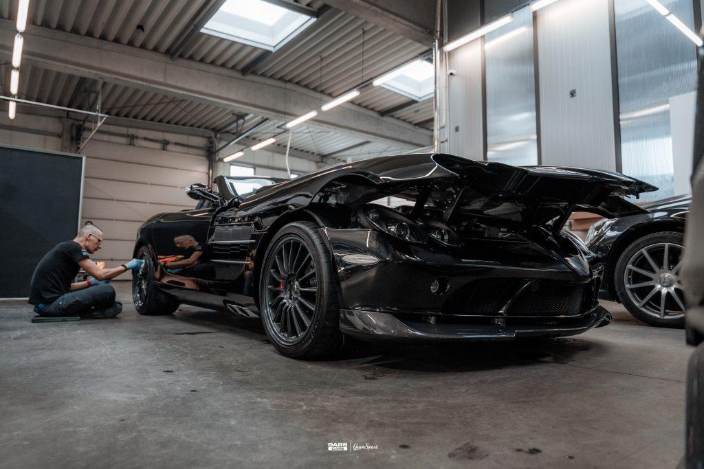 Mercedes-Benz SLR McLaren 722 S Roadster - Zabezpieczenie auta bezbarwną folią ochronną - carscare.pl