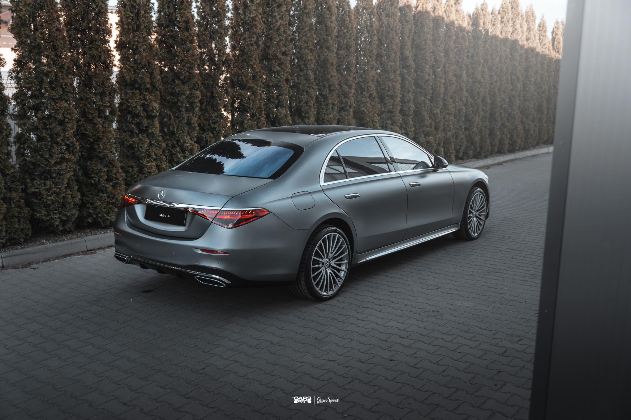 Mercedes-Benz S W223 - Zabezpieczenie auta bezbarwną folią ochronną - carscare.pl