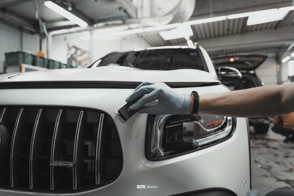 Mercedes AMG GLB 35 - Zabezpieczenie auta bezbarwną folią ochronną - carscare.pl
