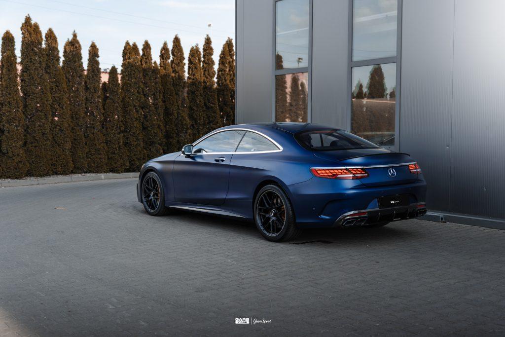 Mercedes AMG S 63 Coupe - Zabezpieczenie auta bezbarwną folią ochronną - carscare.pl