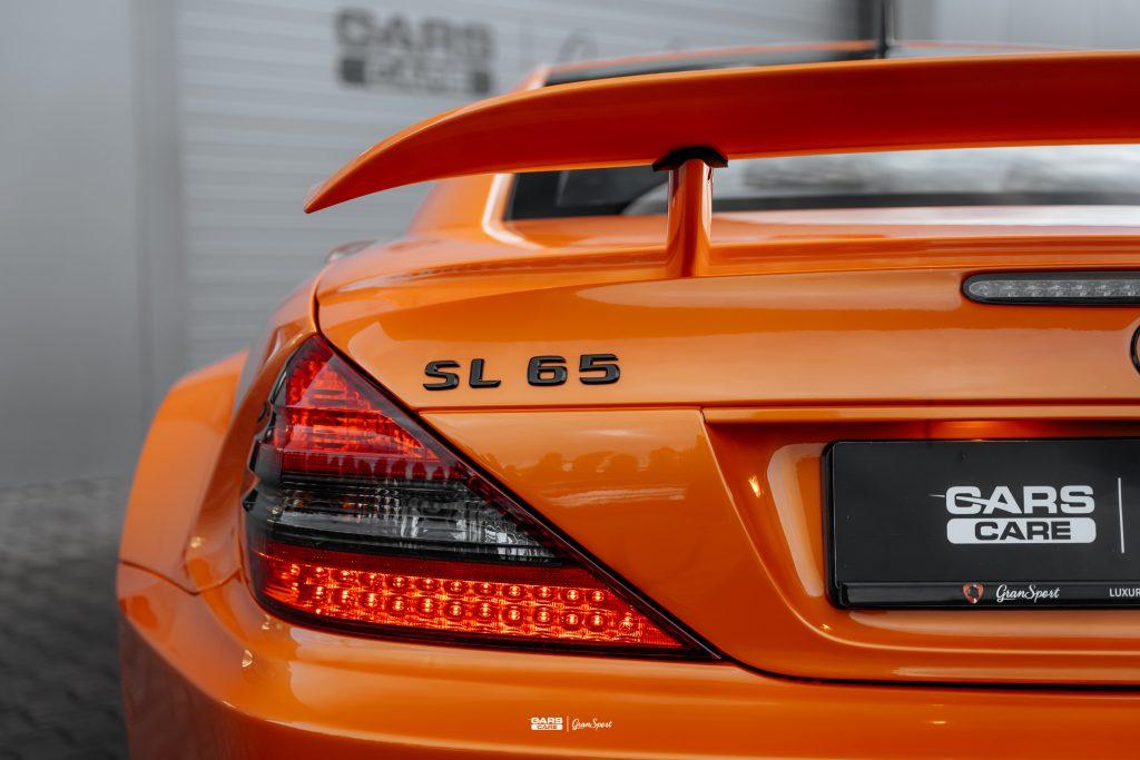 Mercedes SL 65 AMG Black Series - Zabezpieczenie auta bezbarwną folią ochronną - carscare.pl