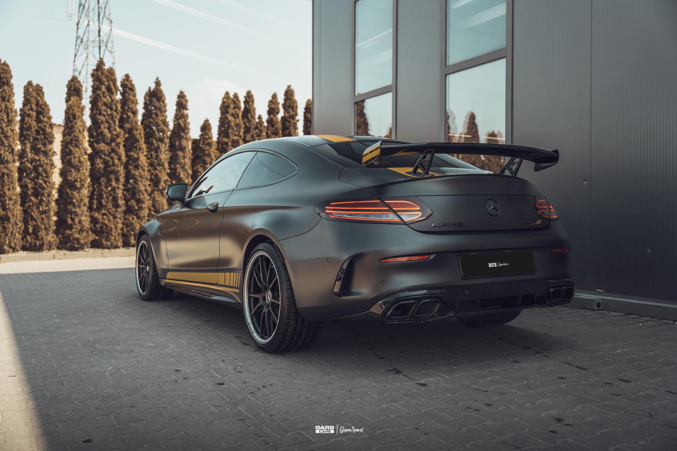 Mercedes-AMG C 63 S Coupe - Zabezpieczenie auta bezbarwną folią ochronną - carscare.pl