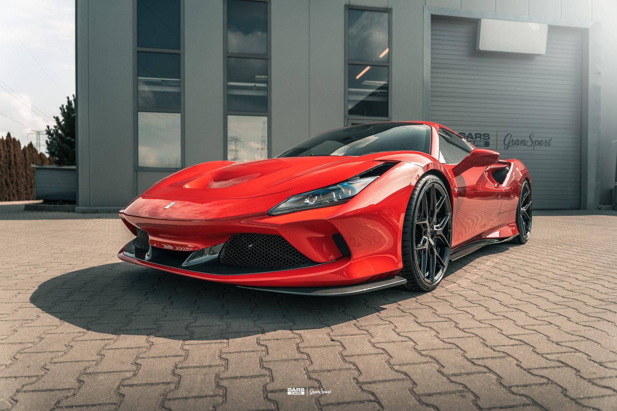 Ferrari F8 Spider Novitec - Zabezpieczenie auta bezbarwną folią ochronną - carscare.pl