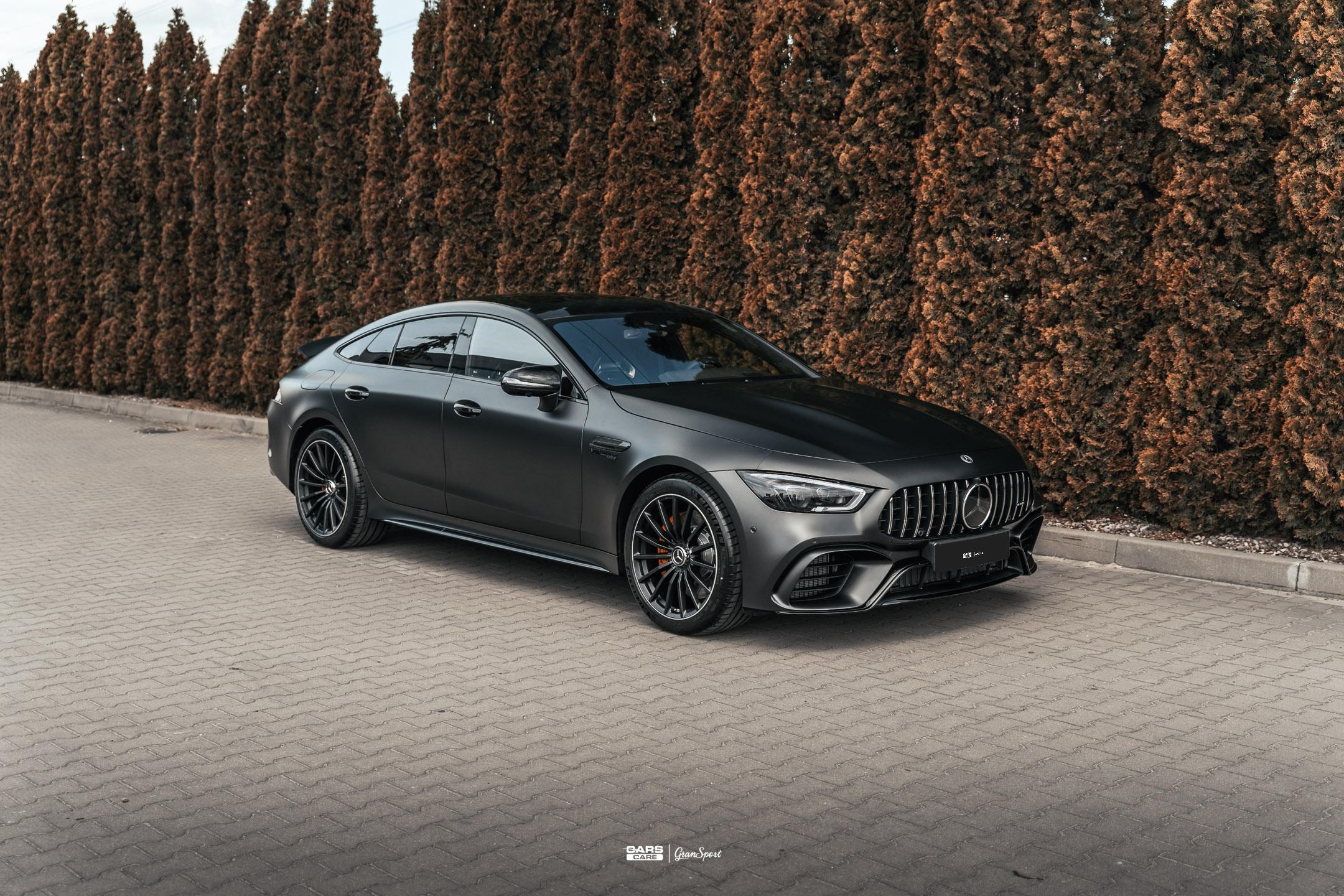 Mercedes-AMG GT63S 4door - Zabezpieczenie auta bezbarwną folią ochronną - carscare.pl