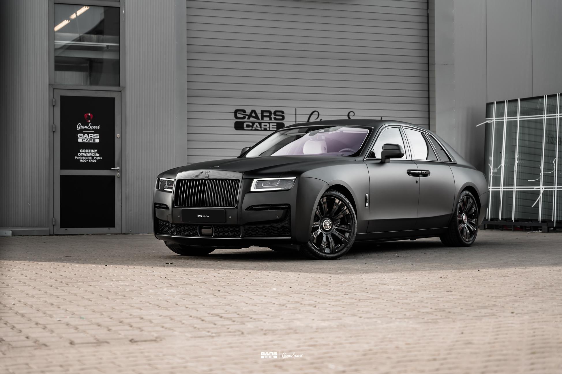 Rolls-Royce Ghost II - Zmiana koloru auta folią - carscare.pl